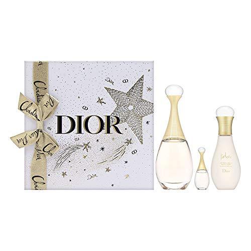 J'adore by Christian Dior for Women 3 Piece Set Includes: 3.4 oz Eau de Parfum Spray + 2.5 oz Beautifying Body Milk + 0.17 oz Eau de Parfum