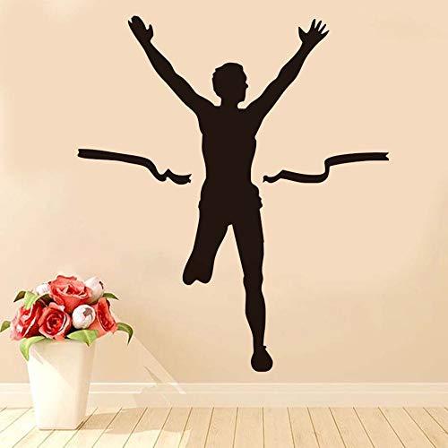 Tianpengyuanshuai PVC waterdicht bereiken de ziellijn Athlet muurstickers decoratie kunst vinyl lijm afneembare figuur silhouet muursticker