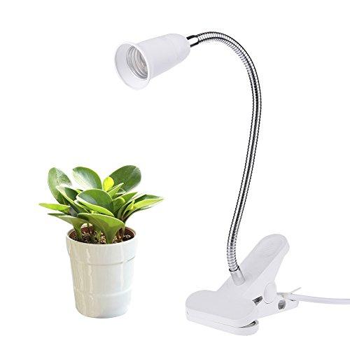 Yunt E27 LED Pflanzenlampe Halter Klammer Pflanzenleuchte mit 360° einstellbar Gooseneck Grow Licht Wachsen Lichter Klemmleuchten für Büro Haus Garten Pflanzen Blumen Veg, ohne Glühbirne