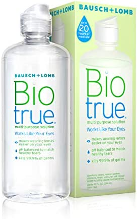 Contact Lens Solution by Biotrue, Multi-Purpose Solution for Soft Contact Lenses, 10 Fl Oz (Pack of 2)