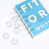 40 Stück Discbound Expansion Scheiben 2 Größen Mini-Buchbindescheiben aus Kunststoff Bindung Kunststoff Disc Schnalle Hoop Transparent passend individuelle Notizbücher DIY Scrapbook Notebooks Planer