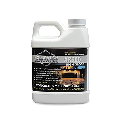 AR500 Solvent Based Acrylic High Gloss Wet Look Concrete and Paver Sealer 16 OZ Sample