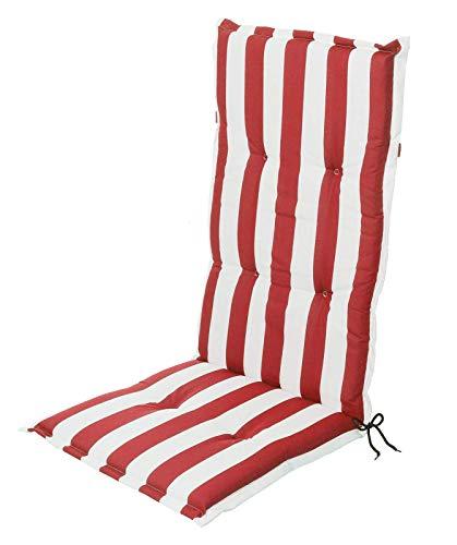 Schwar Textilien - Cojín para Silla con Respaldo Alto, diseño de Rayas, 3 Colores