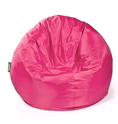 pushbag Kindersitzsack, 100% Polyester, Pink, 90 x 90 cm