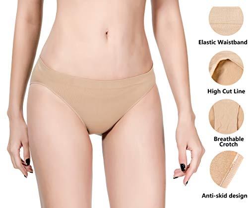 MOLLDAN Pro Dance Ballet Briefs for Women and Girls Seamless Gymnastics Underpants Dancer Beige Bottoms Ballerina Underwear(QT8C11-1)