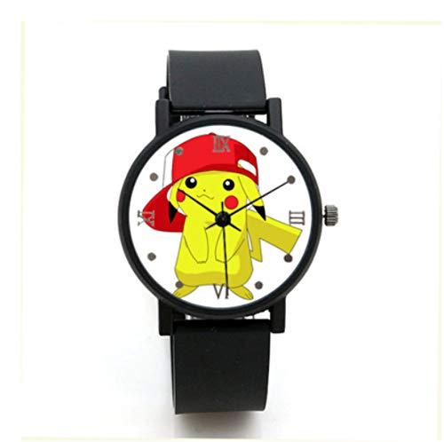 XINKANG Pokemon Reloj Mascota Elf Pikachu Reloj De Dibujos Animados Reloj De Cumpleaños Regalo De Cumpleaños Reloj De Los Niños.