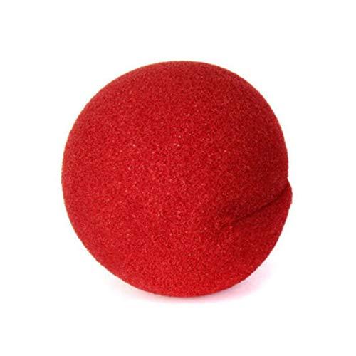 ZHDXW Peluca de payaso de espuma roja para nariz de payaso loco Pelucas de circo cómic, bola de nariz de payaso, esponja de espuma para la nariz de payaso para la decoración de Navidad