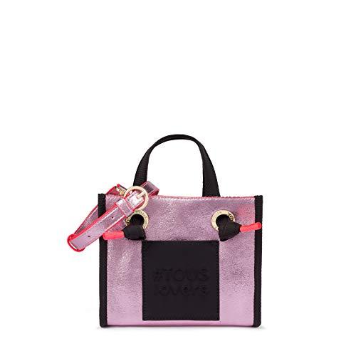 Shopping pequeño Amaya Tweed rosa