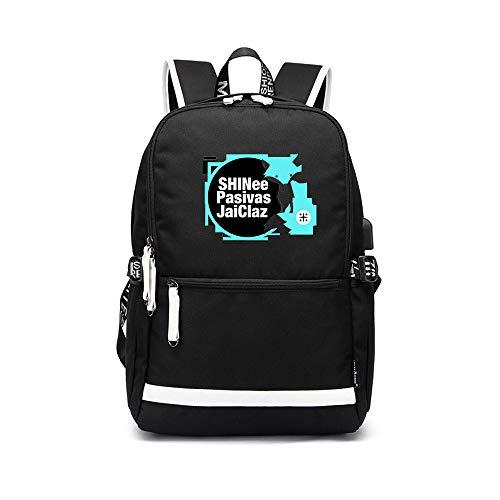Shinee Rucksack für Kinder und Jugendliche Student Trend Rucksack Kinderreise Schoolbag große Kapazitäts Klassische zufälliger Rucksack Persönlichkeit einfach wilder Rucksack Mode Kinderwasserdicht Le