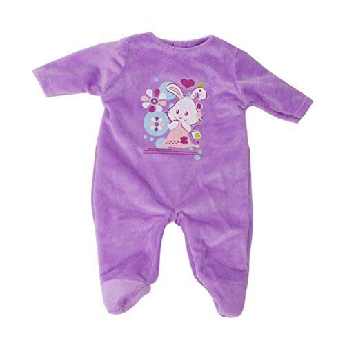 F Fityle Miniatura Ropa de Vestir Accesorios DIY para Muñeca Americana 18 Pulgadas - Púrpura