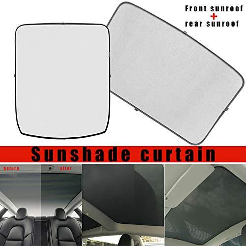 Wodeni glazen dak zonwering voor achter auto dakraam blind Shading net voor Tesla Model 3