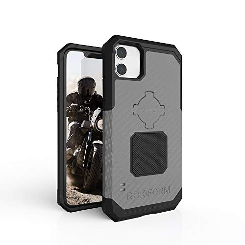 Rokform - iPhone 11 Magnetic Case with Twist Lock, Military Grade Rugged iPhone Case Series (Gunmetal)