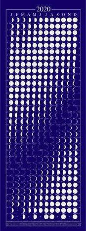 Moon Calendar 2020 Equinox Moon Phase - Beautifully Silk Screened, Packed with Lunar & Solar Data & Mercury Retrogrades …
