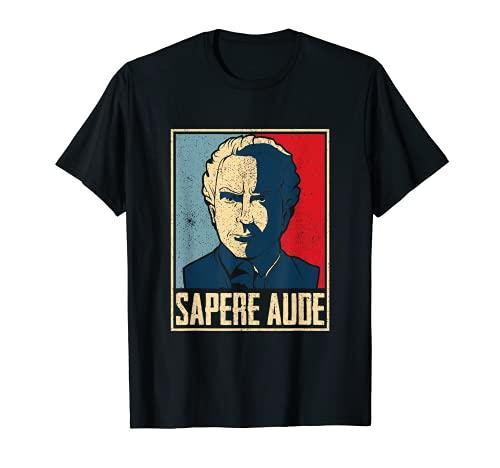 Regalo para filosofía estudiante con frase de Sapere Aude Camiseta