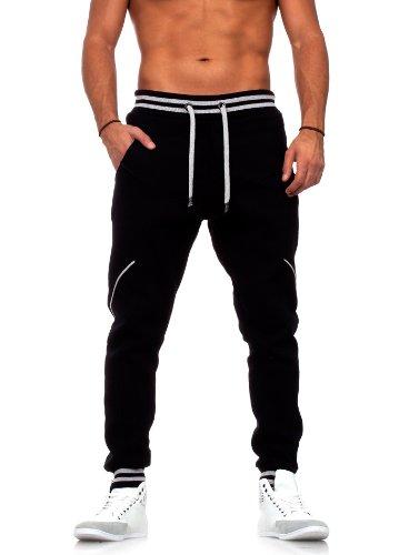 Young & Rich Herren Jogginghose Sweatpants 33-3312, Grösse:S;Farbe:Schwarz