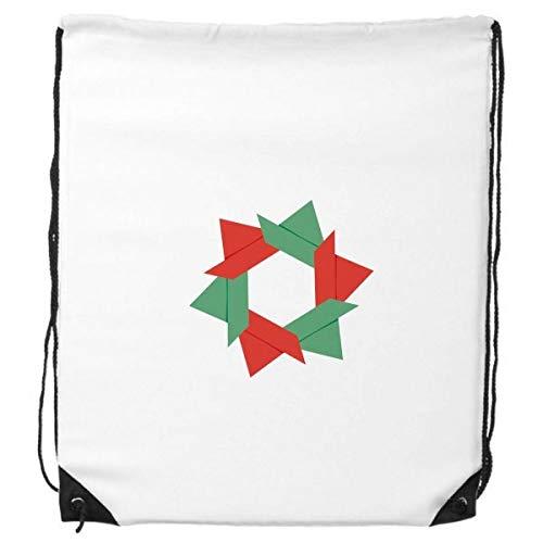 DIYthinker Abstrakte Weihnachten Blume Origami Muster-Rucksack-Shopping Sport Taschen Geschenk