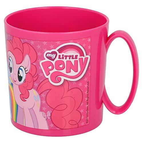 MI PEQUEÑO PONY | Taza para niños y niñas con diseño de personajes - 350 ml | Taza infantil de plástico para microondas - Libre de BPA