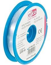 EFCO trekkrachtdraden, polyamide, 2,7 kg, 0,25 mm diameter, 100 m, transparant