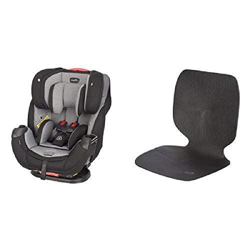 Evenflo Platinum Symphony Elite All-In-One Car Seat, Ashland Gray with Car Undermat & Seat Protector