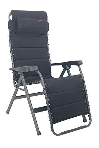 Crespo Relaxliege mit verstellbarem, Kopfteil - schwarz - Vertrieb Holly Produkte STABIELO - Gegen Aufpreis mit Holly Fächerschirmen -
