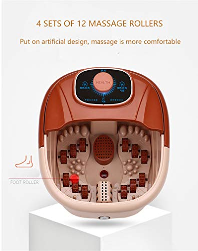 XRR Foot Spa Massager,with Heater Temperature Control | Infrared Light | Bubble,Bath Massager Machine With12 Roller Massage