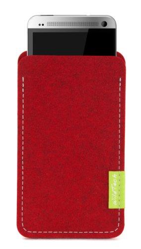 WildTech Sleeve für HTC One mini - 14 Farben wählbar (Kirschrot)