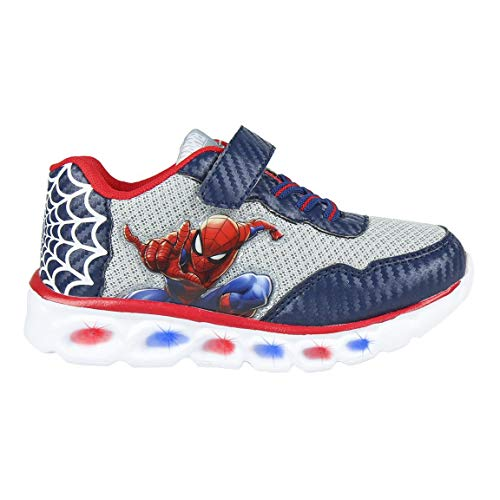 CERDÁ LIFE'S LITTLE MOMENTS Cerdá-Zapatillas LED Spiderman de Color Azul, Gris Perla, 30 EU