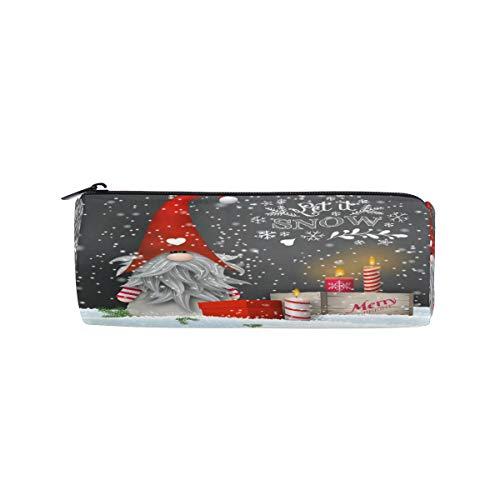 RXYY Weihnachten Tomte Kerzen Geschenke Boxen Bleistift Fall, Bleistift Halter Reißverschluss Leinwand Stift Box Pouch Beutel Box Kosmetik Papier Tasche für Schüler Schule Büro