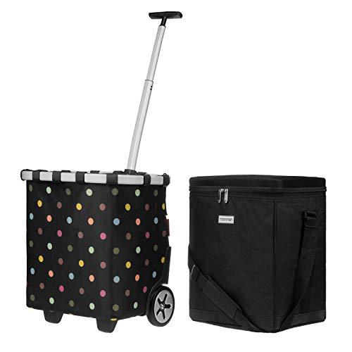 anndora Kühlbox 32 Liter schwarz + reisenthel carrycruiser dots 40 Liter