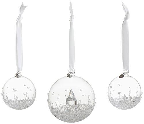 Swarovski Weihnachtskugel Set Figur, Kristall, Transparent, 13 x 11 x 11 cm, 3-Einheiten