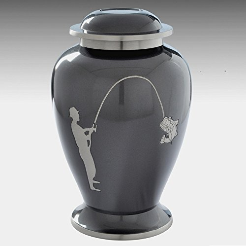 Memorials4u Brass Fishing Urn
