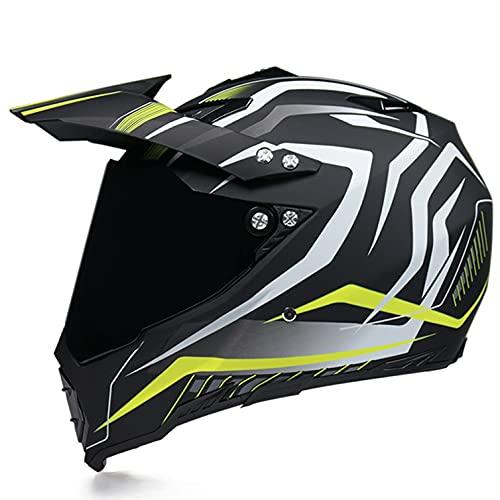 Casco Moto Niño ECE Homologado Casco Motocross Infantil Y Adulto Carcasa ABS...