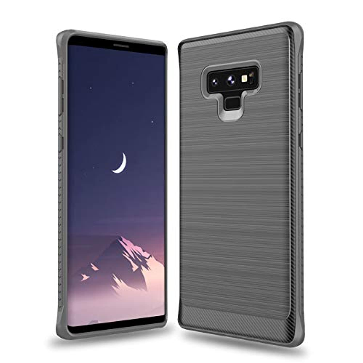 Galaxy Note 9 Case with Resilient Shock Absorption and Carbon Fiber Design for Samsung Galaxy Note 9 (Gray)