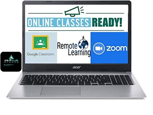 Acer Chromebook 15.6' HD Laptop for Business and Student, Intel Celeron N4000, 4GB Memory, 32GB eMMC, Webcam, USB-C, WiFi , Bluetooth, Chrome OS+AllyFlex MOUSPAD