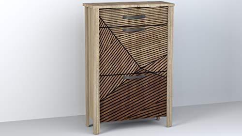 Miroytengo Zapatero Estilo Moderno 1 cajón 2 Puertas Decorado Mueble recibidor 66x28x99 cm