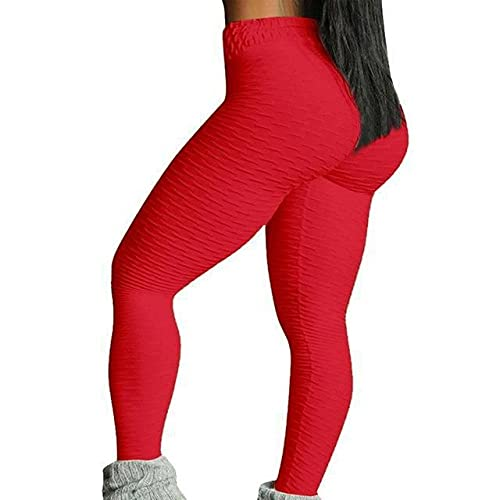 ArcherWlh Leggings,10 Colores Hot Women Pantalones de Yoga Sexy White Sport Leggings Pus-Rojo_Metro