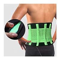 バック、サポートベルト、背骨のサポート、メンズとレディースベルト、通気性ベルト、コルセット、バックサポート、サポート (色 : Orange, サイズ : Small)