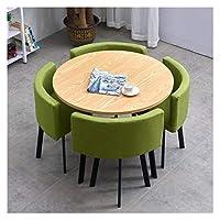 耐久性のあるテーブルと椅子のセット 表オフィス会議室ラウンジシンプルなテーブルと椅子セットモダンデザイン円卓バルコニーリビングルーム DYYD (Color : B)