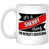 Nuestro nombre es Tazas de barro para niños - Es una cosa de JEREZ - Tazas de té de café personalizadas para él, ella en el día del padre - Cerámica blanca