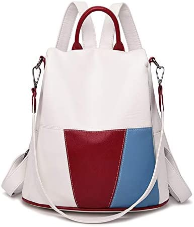 Backpack Purse for Women, Women Leather Backpack Shoulder Bags for Women Travel Ladies Bagpack (Color : Beige, Size : A)