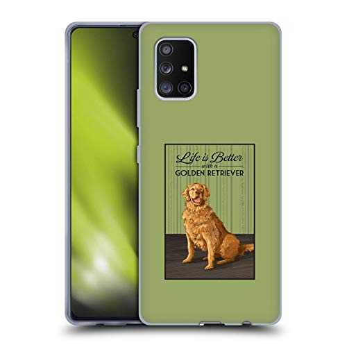 Head Case Designs Officially Licensed Lantern Press Life is Better with A Golden Retriever Dog Collection Soft Gel Case Compatible with Samsung Galaxy A71 5G (2020)