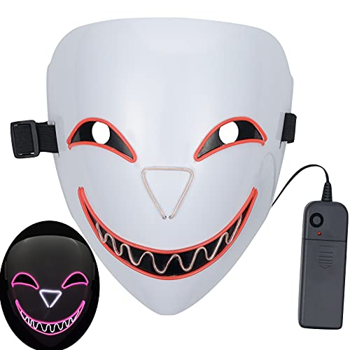 SOUTHSKY Máscara LED de cara completa con luz roja para disfraz de Halloween, cosplay