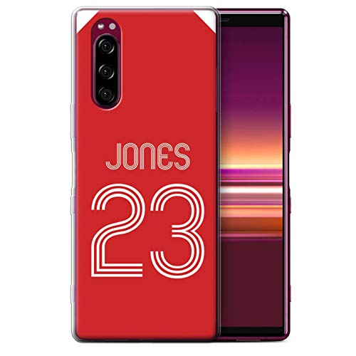 eSwish telefoonhoesje/Cover/Skin/SXP-GC/Custom Football Club Shirt Kit Collectie Zachte hoes Sony Xperia 5 (2019) Rood Wit