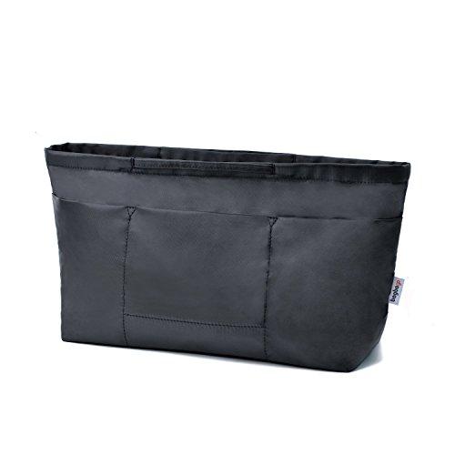 Bag in Bag Handbag Organiser with zipper, Black