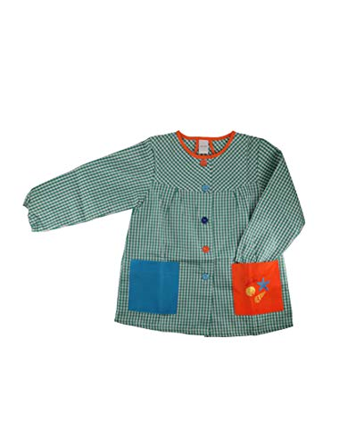 Kiz Kiz Bata Escolar Infantil Multicolor Baby Infantil de Cuadros - (1 año, Verde)
