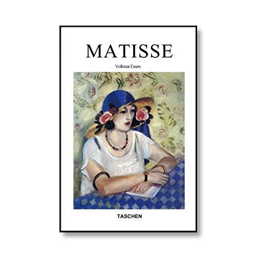 Carteles e impresiones Retro de moda de Henri Matisse, retrato abstracto, artista de pared, casa, lienzo sin marco, pintura A2 60x90cm