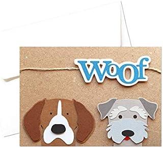 Woof - cani - simpatici amici a 4 zampe - biglietto d'auguri (formato 10,5 x 15 cm) - vuoto all'interno, ideale per il tuo...