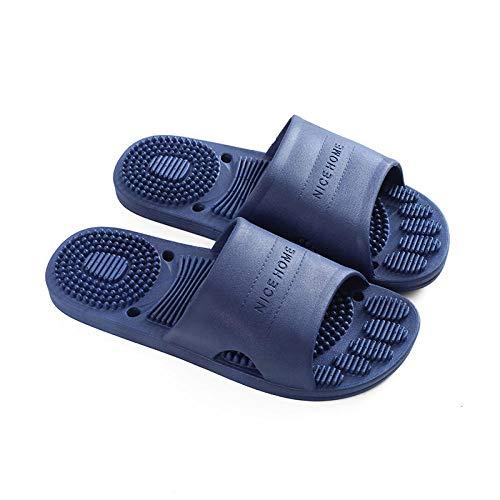WENHUA Zapatos de Playa y Piscina para Hombre Baño, Baño Antideslizante, Zapatillas de Masaje de Verano para Mujer-Blue_42-43, Mujer Hombre Verano Interior Baño Zapatillas para Familia