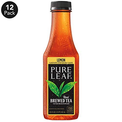 Pure Leaf, Iced Tea, Lemon, Sweetened, Real Brewed Black Tea, 18.5 fl oz. bottles (12 Pack)