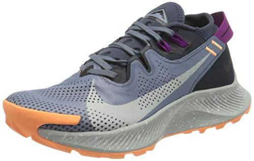 Nike W Pegasus Trail 2, Zapatillas para Correr Mujer, Thunder Blue Photon Dust Ashen Slate Dk Obsidian Peach Cream Red Plum, 39 EU